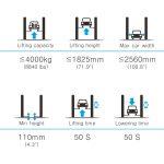 APO-40CE Overhead 8,000 lb Capacity 2 Post Lift