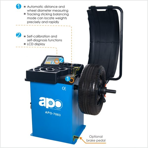 APO-7083 Self-Calibrating Wheel Balancer