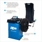APO-7083AS Self-Calibrating Wheel Balancer