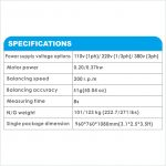 APO-7085AS Self-Calibrating Wheel Balancer