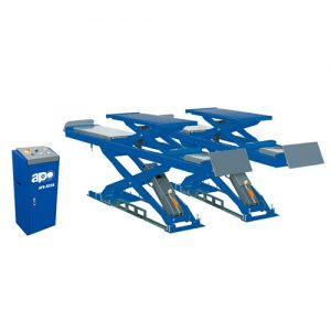 APO--D35H Solid Steel Structure Wheel Alignment Scissor Lift Built In Lifting Platforms